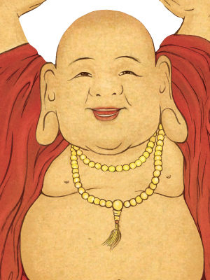 Laughing Buddha Card